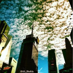 clouds in NYC