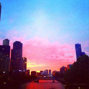 sunset at southbank